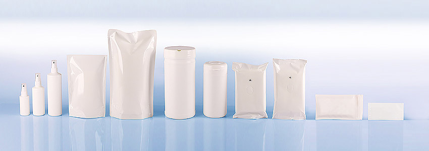 Lohnherstellung & Lohnverpackung Sachets Kosmetik, Desinfektion